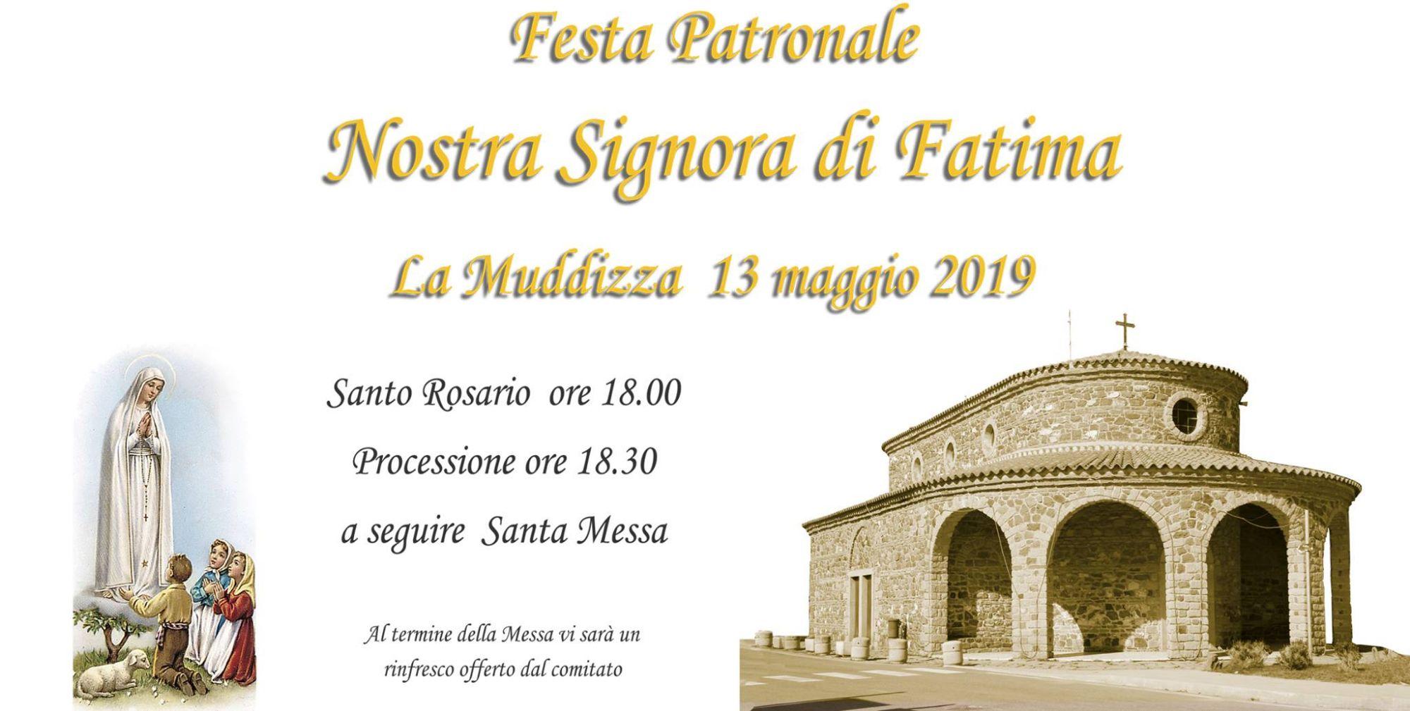 Festa Patronale Nostra Signora di Fatima - La Muddizza